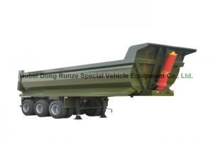 China Tri Axle Tipper Semi Trailer 30-40 Ton U Shape For Transport Stones / Rocks on sale