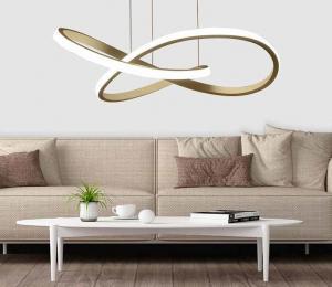 China Unique Black Bending LED Pendant Lighting Fixture Chandelier on sale