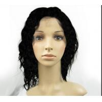 China Brown Natural Short Human Hair WigsWith Bangs , Short Curly Human Hair Wigs on sale