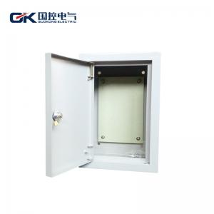 China Surface Mounted Electrical Distribution Box , Power Distribution Box With Lock Grey Coating on sale