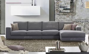 Quality Purple Modern Fabric Sofa Bed For Home Furniture , Minotti fabric sofas for sale