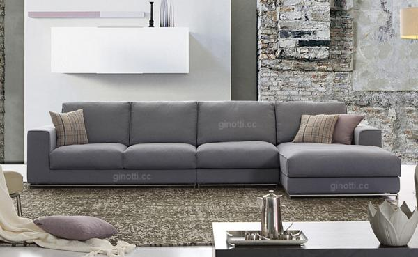 Beau Purple Modern Fabric Sofa Bed For Home Furniture , Minotti Fabric Sofas  Images