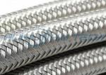 304 Metal Stainless Steel Braided Sleeving Full Coverage For EMI Cable Protection
