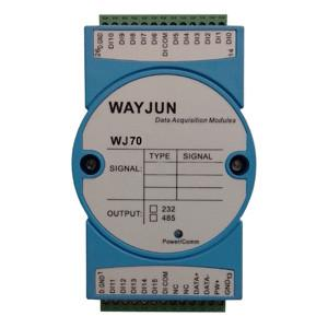 China WAYJUN 4-ch DI 4-ch Relay Output, RS485/232 Remote Module blue Data Acquisition Module I/O DIN35 on sale