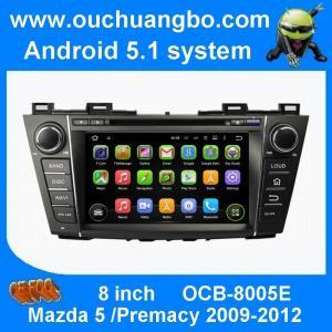 China Androïde 5,1 d'unité de tête de dvd de voiture d'Ouchuangbo pour Mazda 5 Premacy 2009-2012 avec le jeu de musique de radio de HD 1024*600 on sale