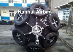 China Floating Marine Rubber Fender , Yokohama Pneumatic Fender For Boats , BV CCS ABS on sale