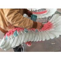 China Big Size Wing Shape Fiberglass Resin Statues Colorful Artificial Wing Decorations on sale