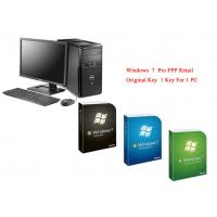China Microsoft Windows 7 Pro Pack Online Activate Customizable FQC Genuine FPP Retail on sale