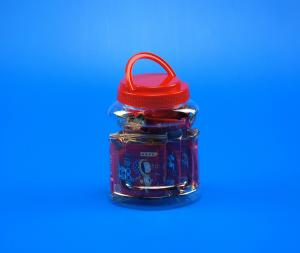 China Customized Logo Pp Screw Cap Biscuit 980ml Plastic Pet Jar on sale