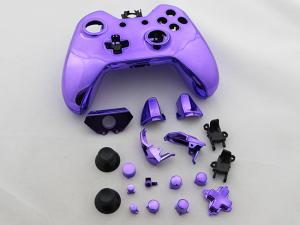 China Full Mirror Chrome Housing Shell Case Replacement for XBOX ONE XB1 Wireless Controller - Purple on sale