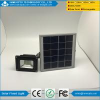 China IP65 outdoor waterproof 10W led solar flood light with remote control on sale