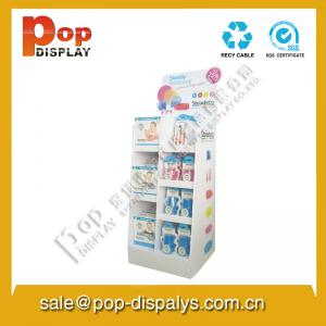 China Marketing White Pop Cardboard Display Stands For Promotion on sale