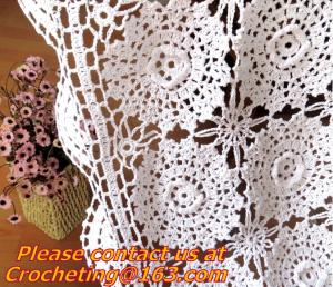 China Crochet Round table clothing - table coverhandmade crochet heart doilies, blanket, clothes on sale
