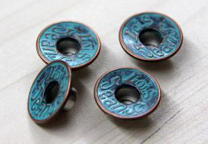 China Snap / Sewing Custom Clothing Buttons Painted In Gun Metal / Shiny Silver on sale