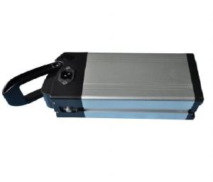 China Lithium Rechargeable Battery , 24V 10Ah LifePO4 Battery , Rear Carrier Type on sale