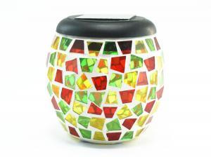 China mosaic jar with led solar light , mosaic jar lamp on sale