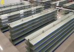 Heavy Duty Wire Supermarket Shelving Large Supermarket Used Gray White Colour