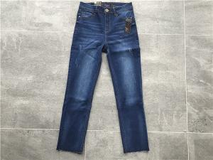 China Women Skinny High Rise Denim Jeans , Customized Mid Wash Denim Jeans W82344 on sale