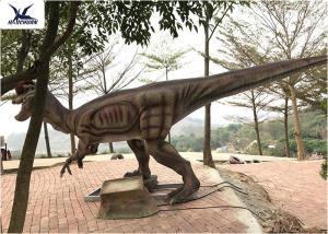 China Giant Dilophosaurus Model Outdoor Dinosaur Statues , Dinosaur Yard Art on sale