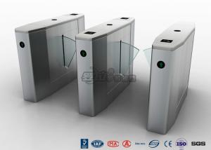 China Stainless Steel Heavy Duty Flap Barrier Gate Automatic Turnstiles For Public Facility on sale