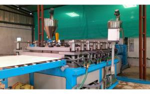 China Professional Double Conical Screw WPC Foam Board Machine / Extruder on sale