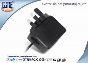 China Black 3 Pin 5v 6v 9v 12v 6w Wall Power Adapter / Shaver Wall Mount Adaptor on sale