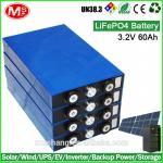 3.2V 60ah LiFePO4 battery cells Rechargeable Solar Power System for EV RV Home Storage
