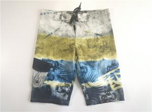 China Hot Summer Quick Dry Digital Print Beach Short Pants Patch Side Pocket Velcro Fly on sale