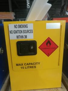 China Mini Steel Flame Proof Safety Storage Cabinets With Single Door on sale