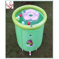 China Piscinas inflables Phathalate del bebé de la forma del barril las pequeñas liberan on sale