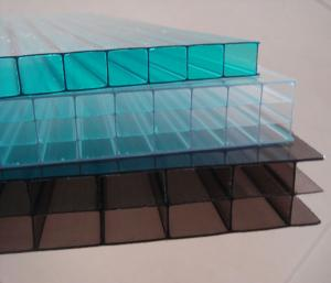 China awning skylight system Grade A lexan twin wall polycarbonate sheets with competitive price on sale