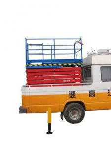 China Building Maintaining Aerial Lift Platform , Adjustable Trailer Mounted Lift on sale