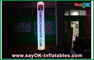 China Straight Pillar Inflatable Lighting Decoration H1 - 3m Nylon Cloth With Logo on sale