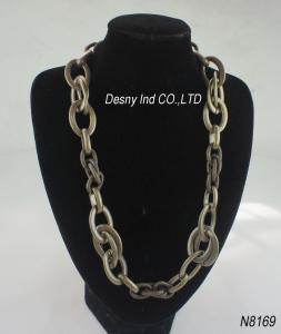 China O plástico unisex perla a colar do bronze da antiguidade da joia do rosário para o aniversário on sale