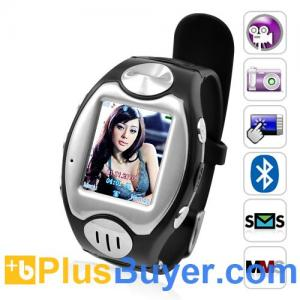 "China Thrifty - 1.5"" Touchscreen Watch Phone (Quad Band, Bluetooth) on sale"