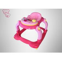 Soft Seat Foldable Baby Walker Rotatable Wheels Superlight  With Music And Lights