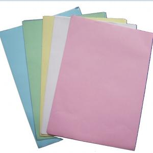 China Carbonless Paper 610*860mm size in sheet blue image high quality 100%origin woodpulp on sale