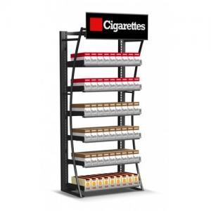 China Retail Cigarette Display Stand , Smoke Shop Wall Hanging Display Case on sale