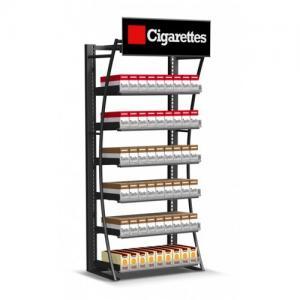 Suporte de exposição varejo do cigarro, vitrina de tapeçaria da loja do fumo