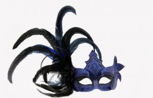 China Halloween Plastic Silver Feather Masquerade Mask For Princess on sale