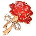 Ramillete cristalino TJ0104 de la broche del clavel del regalo del día de madre