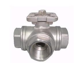 China 3-way stainless steel ball valve 1000wog ISO-5211 DIRECT MOUNTING PAD npt reduce port l/t on sale
