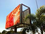 Steel / Iron Material Outdoor Advertising LED Display Billboard 1R1G1B With Back Access