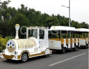 China Interesting Carnival Train Ride Antique Models Trackless Kiddie Train For Amusement Parks on sale
