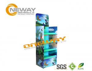 China Retail Supermarket Cardboard Floor Display Racks Multi Layer Adjustable Height on sale