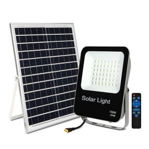 China 150W 100W 60W 30W Remote Control Solar Flood Lights on sale