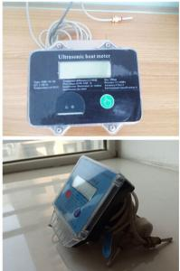 Quality Bule and wihte Ultrasonic Heat Meter for Residential / Air conditioning systems for sale