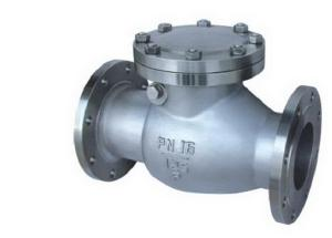 China pn16 flanged casting steel swing check valve on sale