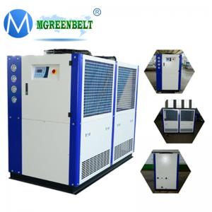 China 20HP 0C Minus 5C Industrial Glycol Chilling Water System Air Cooled Milk Chiller on sale