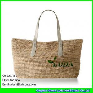 ee6787b847 Quality LUDA silver leather handbags women crochet beach straw raffia bags  for sale